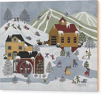 Wonderful Winter Wood Print by Medana Gabbard