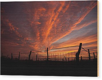 Wonderous Sky Wood Print by Shirley Heier