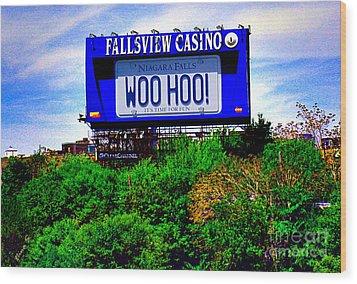 Woo Hoo Wood Print by Nina Silver