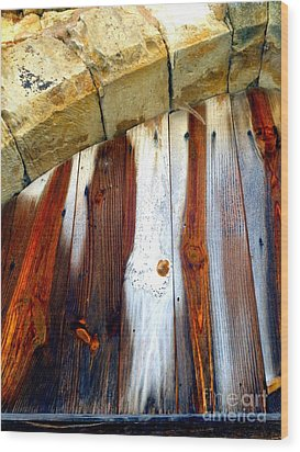 Wood And Stone Wood Print by Lauren Leigh Hunter Fine Art Photography