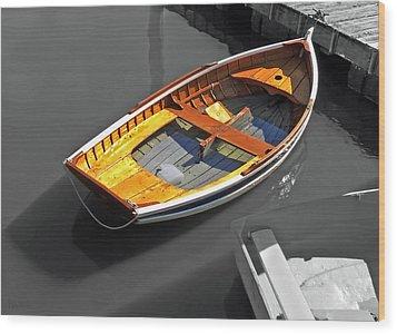 Wood And Water Wood Print by Deborah Smith