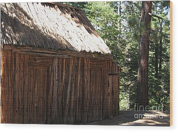 Wood Barn At Lake Tahoe Wood Print