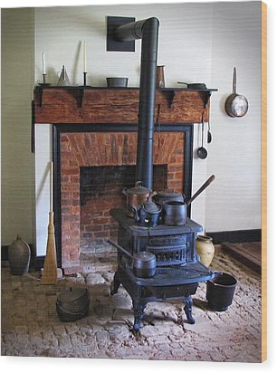 Wood Burning Stove Wood Print by Dave Mills