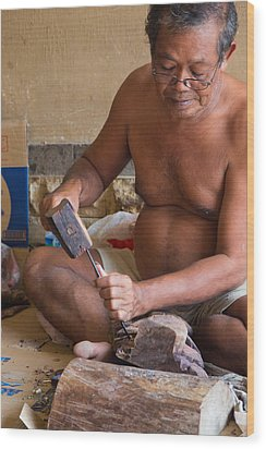Wood Carver - Bali Wood Print