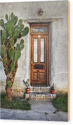 Wood Print featuring the photograph Wood Door In Tuscon by Ken Smith