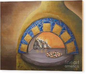Wood Print featuring the painting Wood Fired by Chad Berglund