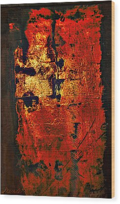 Wood Print featuring the painting Wood On Fire 3 Painting Original Sold by Renee Anderson