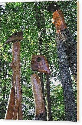 Wood Sculptures Wood Print
