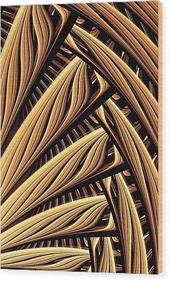 Wood Weaving Wood Print by Anastasiya Malakhova