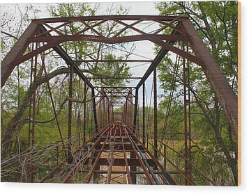 Woodburn Bridge Indianola Ms Wood Print