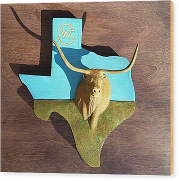 Woodcrafted Home On The Range Wood Print by Michael Pasko