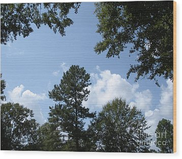 Wooded Forest  Wood Print