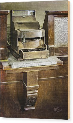 Wood Print featuring the photograph Wooden Bank Cash Register by Betty Denise