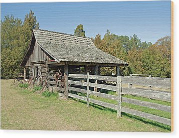 Wood Print featuring the photograph Wooden Barn by Charles Beeler