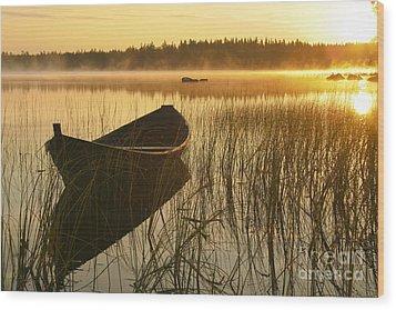 Wooden Boat Wood Print