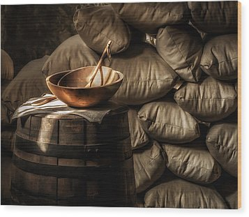 Wooden Bowl Wood Print by James Barber