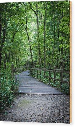 Wooden Bridge Wood Print by Wayne Meyer