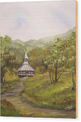 Wooden Church In Transylvania Wood Print by Dorothy Maier
