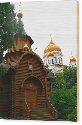 Wood Print featuring the photograph Wooden Church by Julia Ivanovna Willhite