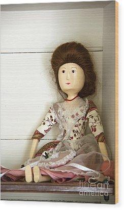 Wooden Doll Wood Print by Margie Hurwich
