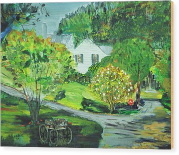 Wood Print featuring the painting Wooden Duck Inn by Michael Daniels