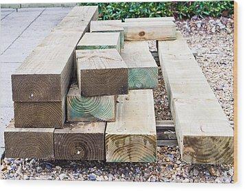 Wooden Planks Wood Print by Tom Gowanlock