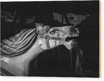 Wooden Pony Wood Print by Bob Orsillo