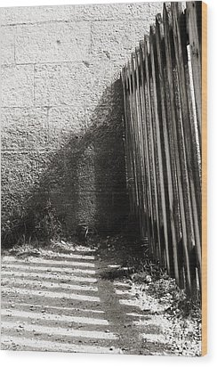 Wood Print featuring the photograph Wooden Shadow by Cendrine Marrouat