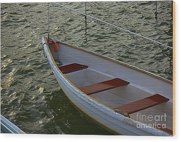 Wooden Skiff Wood Print by Amazing Jules
