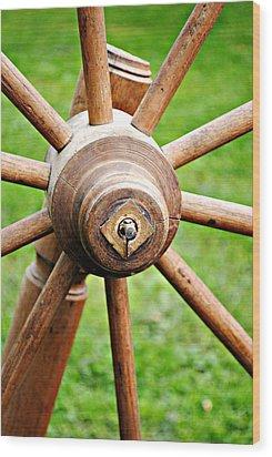 Woodenspoke Wood Print by Stephanie Grooms