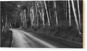 Woodland Drive Wood Print by Wendell Thompson