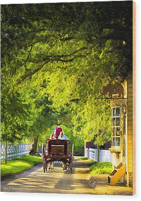 Woodland Ride - Colonial Williamsburg Wood Print by Mark E Tisdale