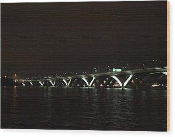Woodrow Wilson Bridge - Washington Dc - 011339 Wood Print by DC Photographer