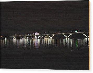 Woodrow Wilson Bridge - Washington Dc - 011344 Wood Print by DC Photographer