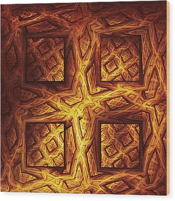 Woodwork Wood Print by Anastasiya Malakhova