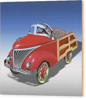 Woody Peddle Car Wood Print by Mike McGlothlen