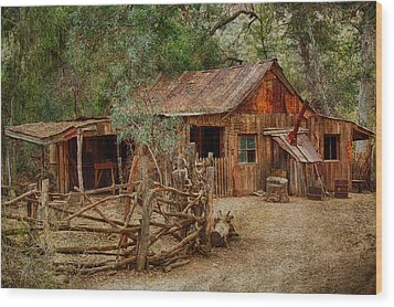 Wool Shed Wood Print