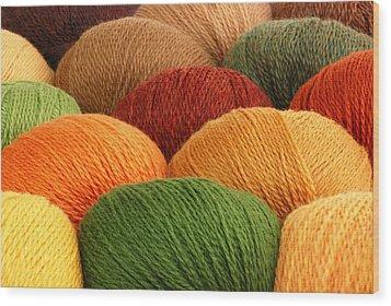 Wool Yarn Wood Print by Jim Hughes