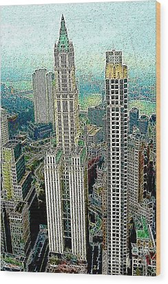 Woolworth Building New York City 20130427 Wood Print by Wingsdomain Art and Photography
