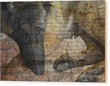 Wordless Wood Print by Judy Wood