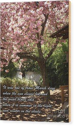Words Of The Seasons Wood Print