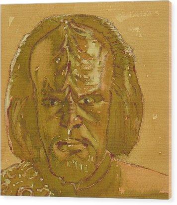 Worf Wood Print