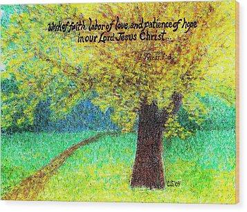 Work Of Faith Wood Print by Catherine Saldana