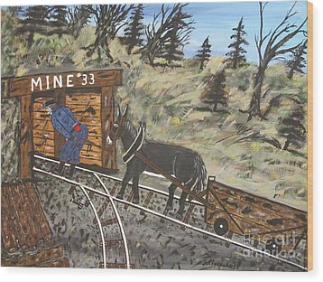 The Coal Mine Wood Print