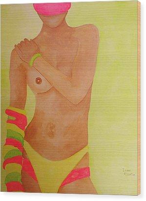 Working On My Tan Wood Print by Isaac Alcantar