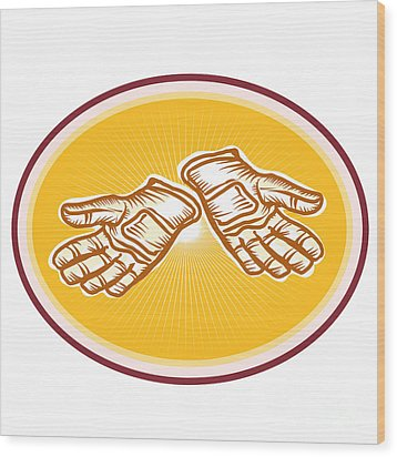 Workman Utility Gloves Retro Wood Print by Aloysius Patrimonio