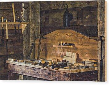 Workman's Bench Wood Print