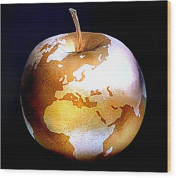 World Apple Wood Print by The Creative Minds Art and Photography