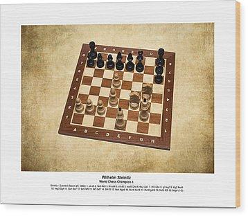 World Chess Champions - Wilhelm Steinitz - 1 Wood Print by Alexander Senin
