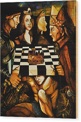 World Chess   Wood Print by Dalgis Edelson